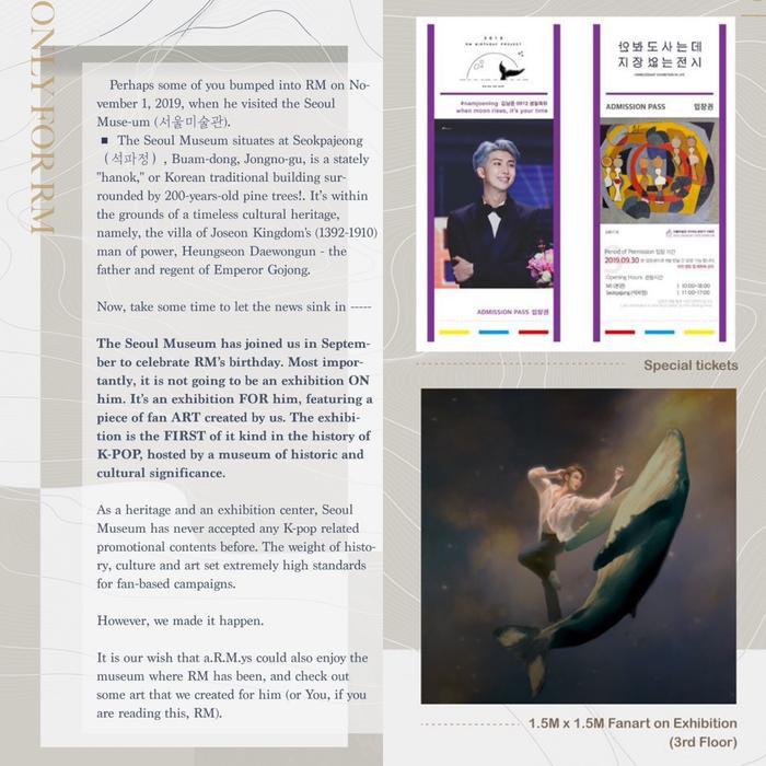 Project mang tên The Muse của RMbar - mang hình ảnh RM vào Bảo tàng Seoul.