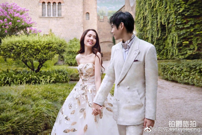 Ảnh cưới lung linh, ngọt ngào của con trai trùm showbiz Hong Kong Hướng Tả và người đẹp Quách Bích Đình ảnh 4