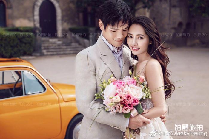 Ảnh cưới lung linh, ngọt ngào của con trai trùm showbiz Hong Kong Hướng Tả và người đẹp Quách Bích Đình ảnh 5