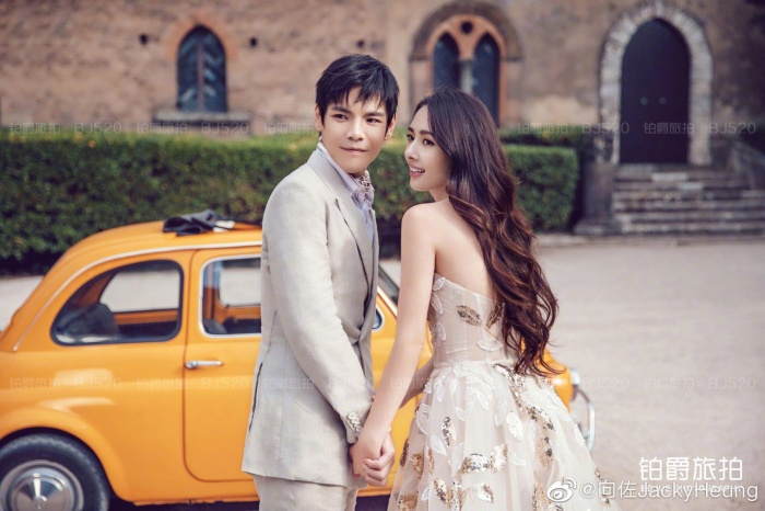 Ảnh cưới lung linh, ngọt ngào của con trai trùm showbiz Hong Kong Hướng Tả và người đẹp Quách Bích Đình ảnh 6