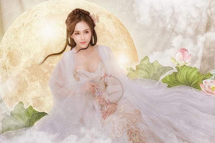 Hải Yến hóa thành chị Hằng Nga đẹp ảo diệu ảnh 1