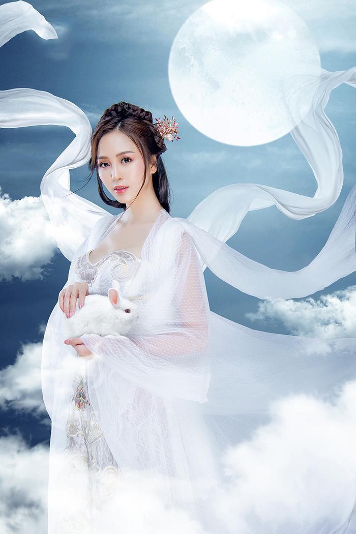 Hải Yến hóa thành chị Hằng Nga đẹp ảo diệu ảnh 7