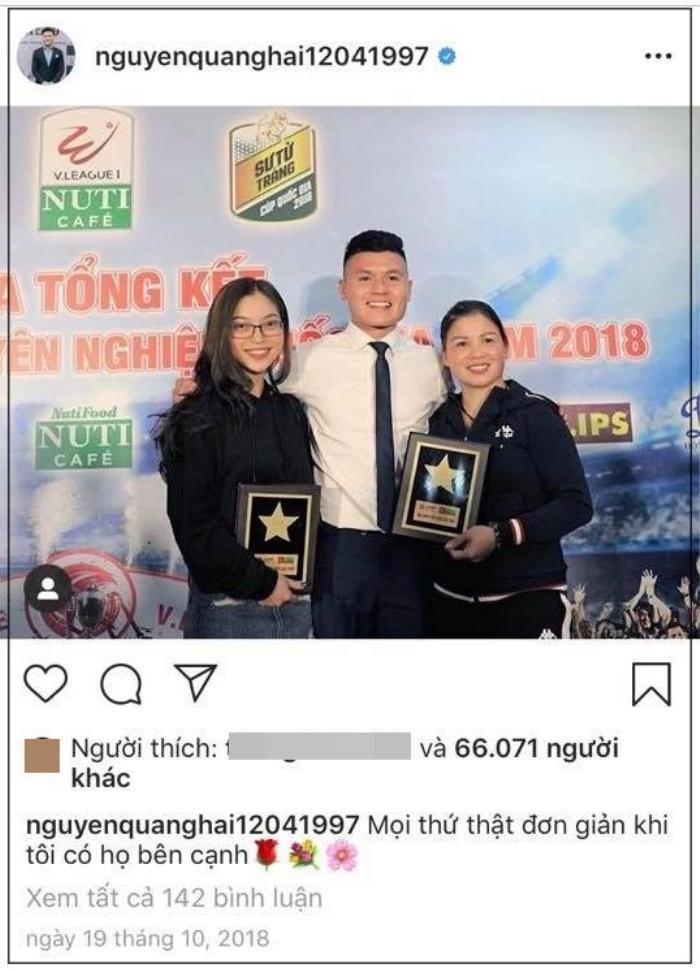 Quang Hải xóa hết hình ảnh có sự hiện diện của Nhật Lê trên instagram, giữ lại duy nhất bức ảnh này.