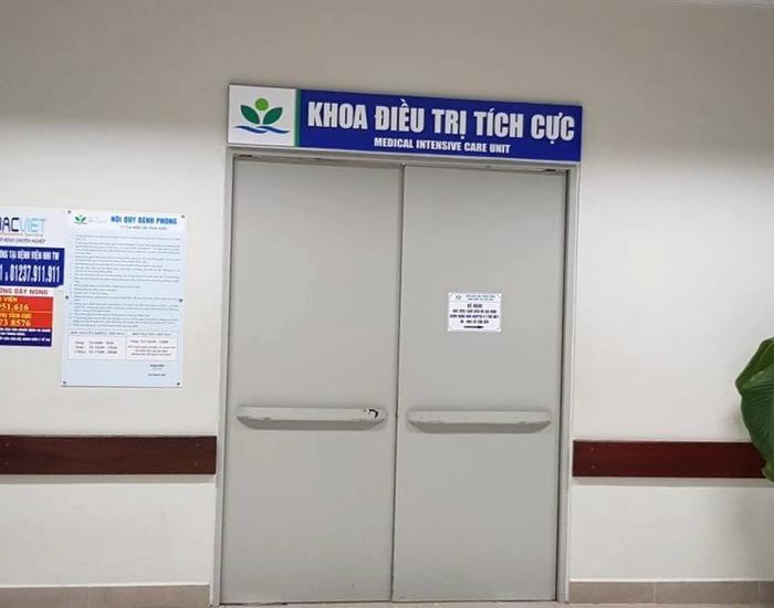 Khu vực điều trị cho cháu bé tại Bệnh viện Nhi Trung ương.