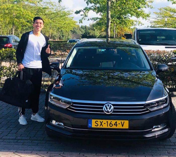 Chiếc Volkswagen Passat mà câu lạc bộ Heerenveen cấp cho Văn Hậu cũng có giá không hề rẻ tại châu Âu.(Ảnh: Nguyễn Đắc Văn)