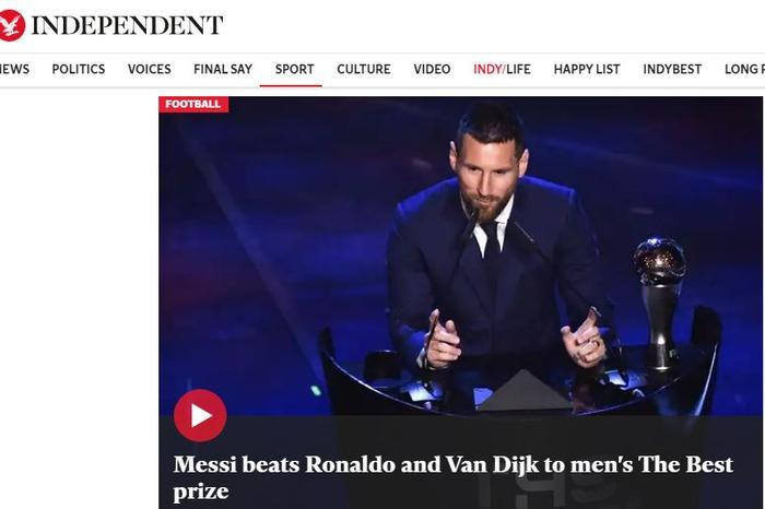 Independent cho rằng Messi hoàn toàn xứng đáng.