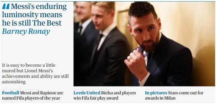 The Guardian ca ngợi Messi là người giỏi nhất.