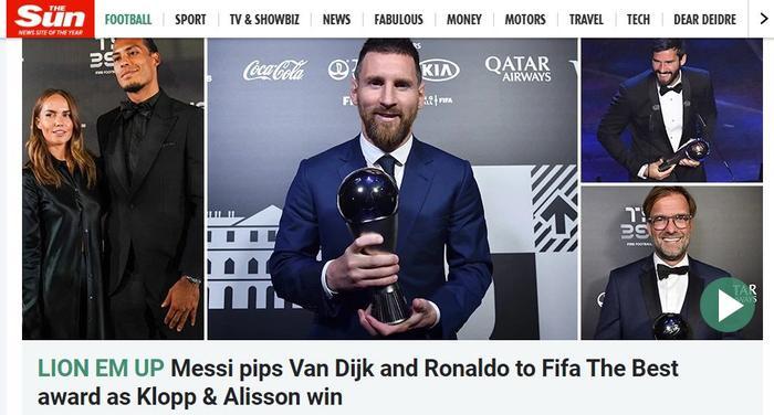 The Sun muốn Van Dijk giành chiến thắng hơn.