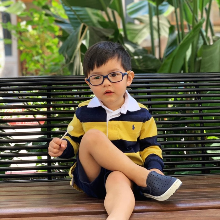 Con trai 2 tuổi của Đan Trường tích cực tập thể dục cho body đẹp để chụp hình quảng cáo ảnh 5