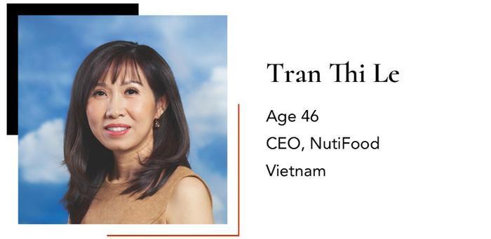 Bà Trần Thị Lệ với hai lần vực dậy Nutifood cũng góp mặt trong danh sách những người phụ nữ quyền lực.
