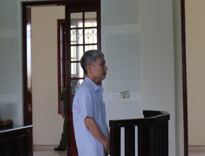 Bị cáo Nam tại phiên tòa