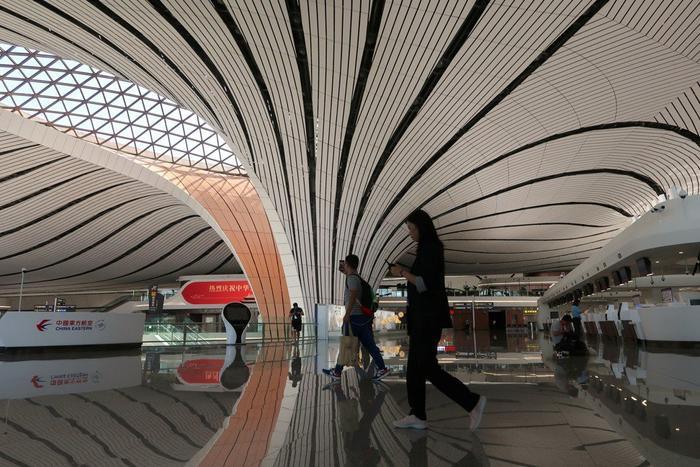Hạ tầng di động tại Sân bay Quốc tế Beijing Daxing hỗ trợ kết nối 5G. (Ảnh: Reuters)