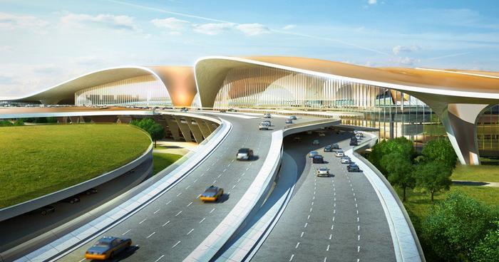 Phối cảnh sân ga lớn nhất thế giới do ADP Ingenierie và Zaha Hadid Architects thực hiện. (Ảnh: Handout)