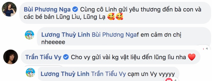 Cặp đôi hoa hậu - á hậu Tiểu Vy và Phương Nga chung tay góp quỹ hỗ trợ cho dự án của Lương Thùy Linh.