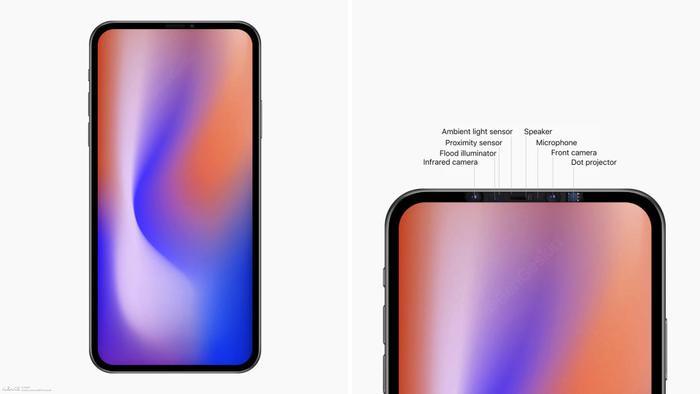 Theo như những gì Ben Geskin tiết lộ trước đó, cảm biến TrueDepth cho Face ID trên iPhone mới sẽ được đặt bên trong phần viền mỏng phía trên màn hình. Tuy nhiên, một số nguồn tin khác lại cho rằng Face ID sẽ được nằm ẩn bên dưới màn hình.