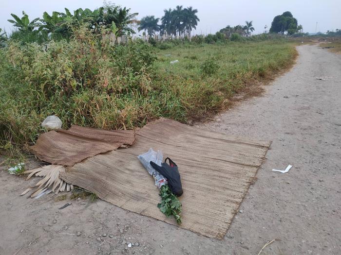Khu vực nơi nạn nhân bị sát hại.