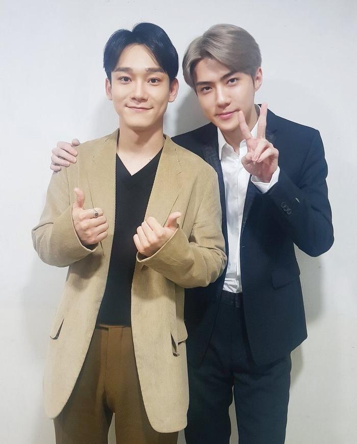 Chen rất cảm kích vì hành động của Sehun.
