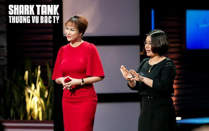 Shark Linh hào hứng với dự án nhưng mà thuyết trình của Phi Thanh Vân dường như khiến cô thay đổi quyết định. (Ảnh: Shark Tank)