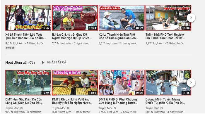 Kênh YouTube mới của 'thánh chửi' Dương Minh Tuyền sở hữu hơn 600.000 lượt đăng ký, xuất hiện nhiều nội dung phản cảm