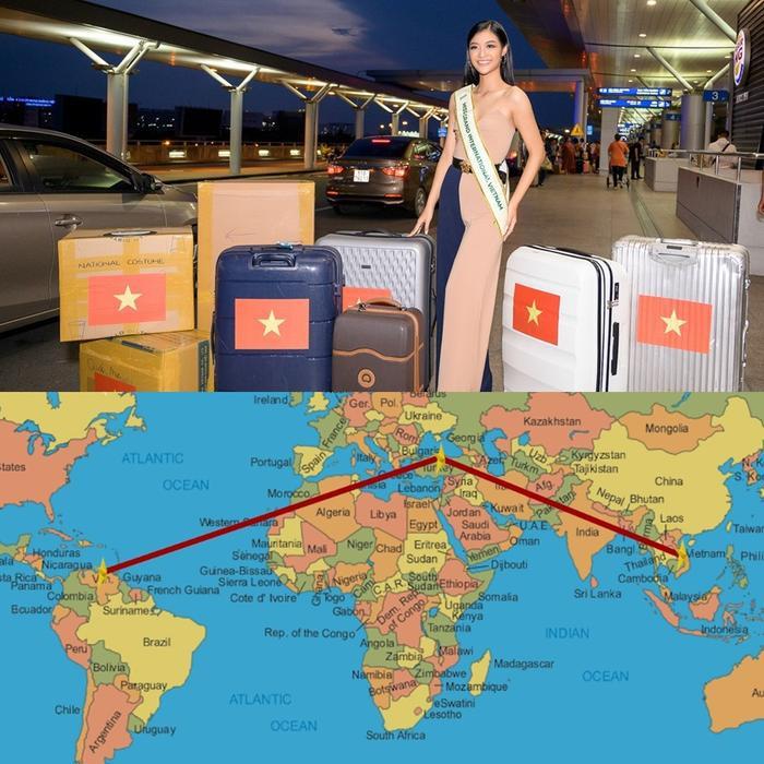 Chuyến bay kéo dài 40 tiếng từ Việt Nam sang Venezuela.