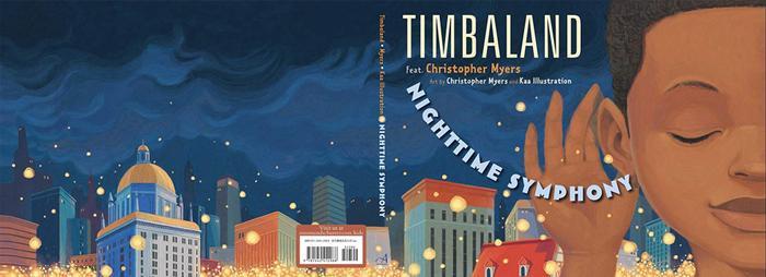 """Sản phẩm minh họa cho cuốn sách """"Nighttime Symphony"""" của Timbaland và Chirstopher Myers."""