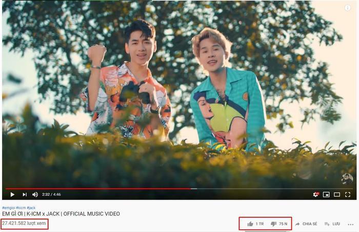 Sau hơn 3 ngày lên sóng, MV đang sở hữu hơn 27.4 triệu lượt xem cùng hơn 1 triệu lượt thích trên Youtube.
