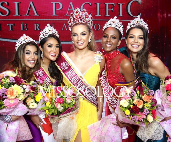 Mỹ nhân Tây Ban Nha cao 1m8 đăng quang Miss Asia Pacific Int 2019, Thu Hiền out-top ngỡ ngàng ảnh 3