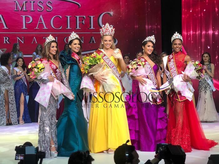 Mỹ nhân Tây Ban Nha cao 1m8 đăng quang Miss Asia Pacific Int 2019, Thu Hiền out-top ngỡ ngàng ảnh 2