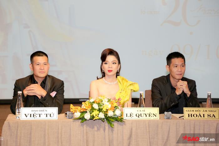 Đạo diễn Việt Tú – Ca sĩ Lệ Quyên – Giám đốc âm nhạc Hoài Sa