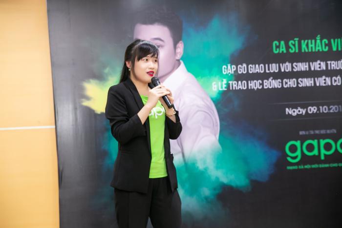 Bà Trang Đinh - Giám đốc truyền thông của mạng xã hội mới dành cho giới trẻ Gapo.