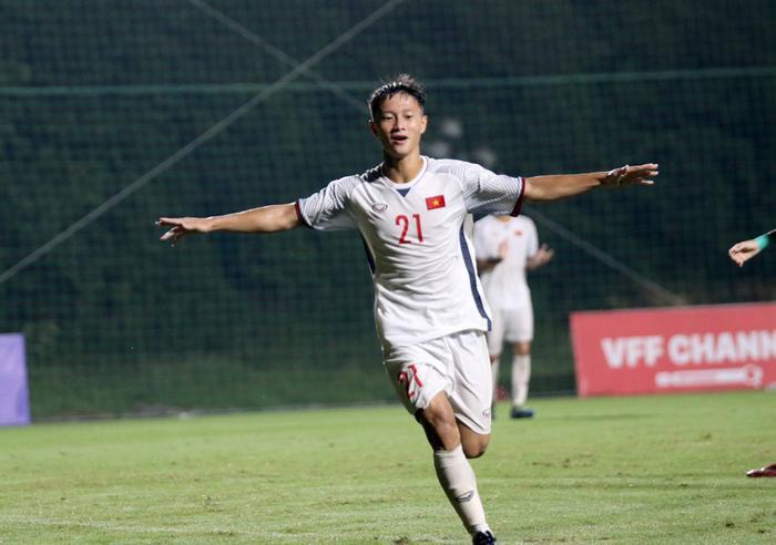 U19 Việt Nam tạo ra thế chủ động dù phải thi đấu trên sân khách. Ảnh: VFF.