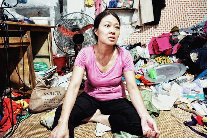 Người dân cho biết, chị Thanh là mẹ bé Hoàng Anh có chút vấn đề về tâm lý.