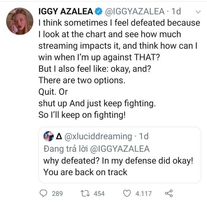 Iggy Azalea vẫn kiên trì ra sản phẩm mới bất chấp thất bại.