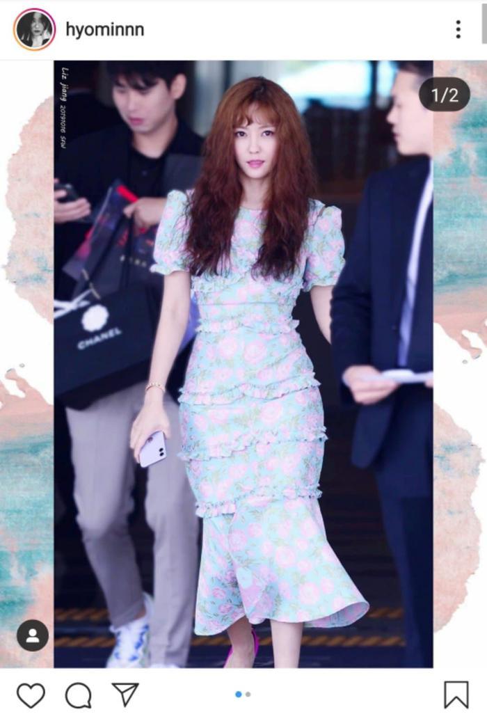 Hình ảnh mới nhất của Hyomin.