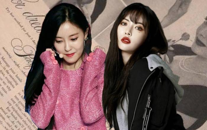 Hyomin và HyunA.