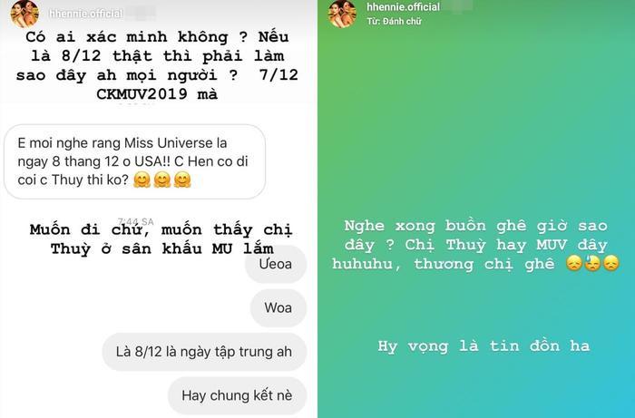 Hoa hậu H'Hen Niê lo lắng chung kết Miss Universe 2019 và Miss Universe Vietnam 2019 sát ngày, không thể sang Mỹ cổ vũ cho Hoàng Thùy.
