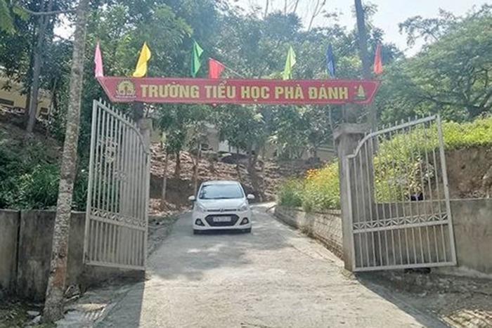 Trường Tiểu học Phà Đánh nơi ông V. đang công tác. Ảnh: Vietnamnet