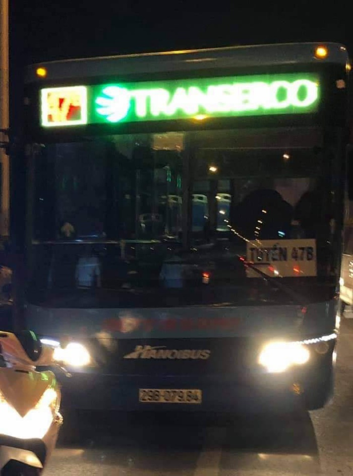 Tài xế và phụ xe buýt tuyến 47B mang BKS 29B-079.84