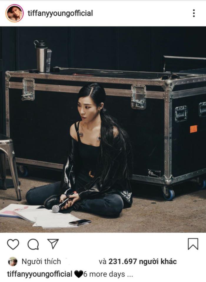 Tiffany Young thông báo còn 6 ngày nữa tour diễn sẽ được diễn ra.