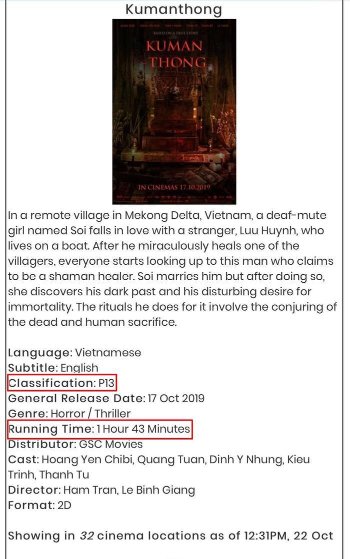 Bản giới thiệu phim trên web mua vé ở Malaysia.