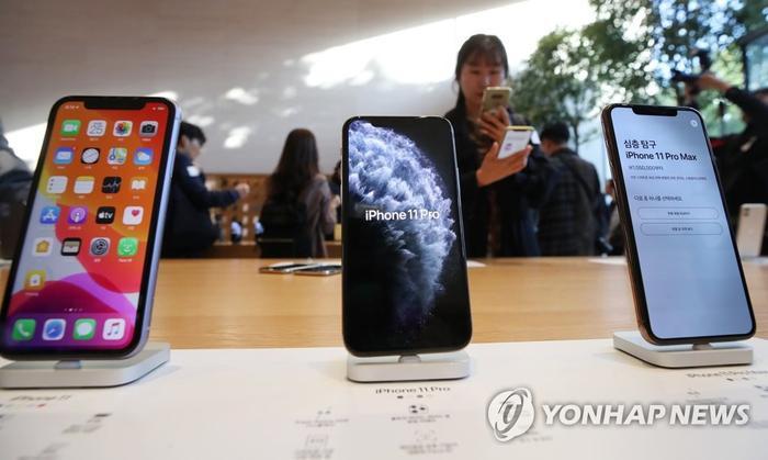 iPhone 11, iPhone 11 Pro và iPhone 11 Pro Max đạt doanh số tốt hơn so với iPhone Xs, iPhone Xs Max và iPhone Xr tại Hàn Quốc. (Ảnh: Yonhap)
