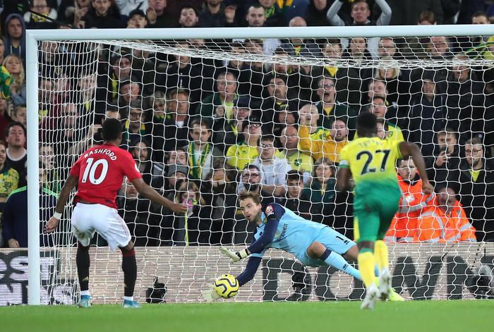 Theo kết quả bóng đá hôm nay 28/10, Rashford và đồng đội dù 2 lần bỏ lỡ penalty nhưng vẫn có 3 điểm trước Norwich