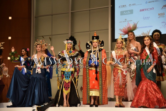 Nhóm trang phục dân tộc của các nước châu Á.
