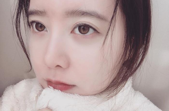 """Goo Hye Sun nhắc nhở fan: """"Coi chừng bị cảm lạnh đấy nhé""""."""