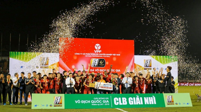 Với ngôi Á quân V.League 2019, CLB TP.HCM trở thành niềm tự hào trong lòng khán giả ở TP.HCM.Ảnh: CLB TPHCM