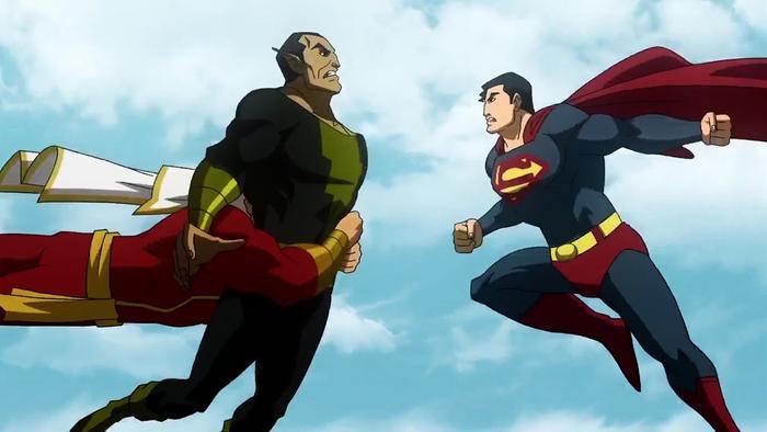 Trong phiên bản hoạt hình hay nguyên tác truyện tranh, cả Superman và Shazam đã phải hợp sức mới có thể đánh ngang cơ được so với Black Adam
