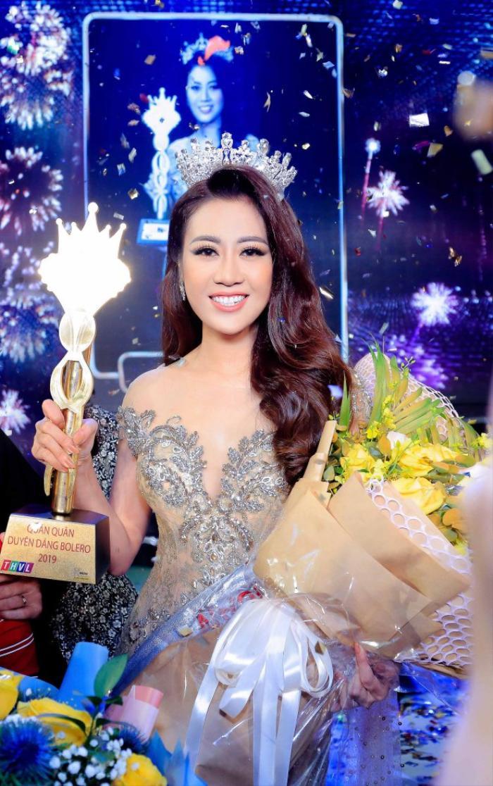 Cô đạt được Quán quân cuộc thi Duyên dáng Bolero 2019
