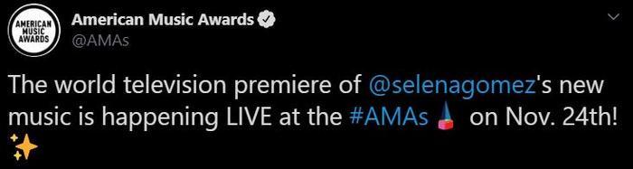 Ban tổ chức của AMAs 2019 đã xác nhận chính thức: nhân tố nổi bật thứ 2 của chương trình chính là Selena Gomez!