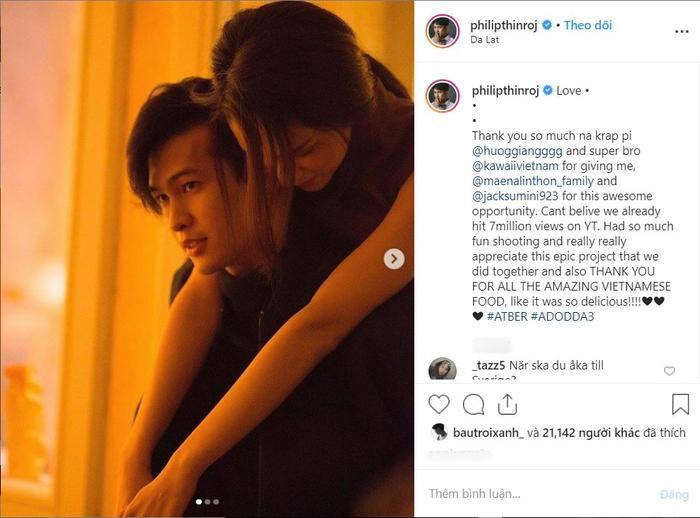 Philip Thinroj thể hiện tình cảm sau khi MV #ATBER cán mốc triệu view.