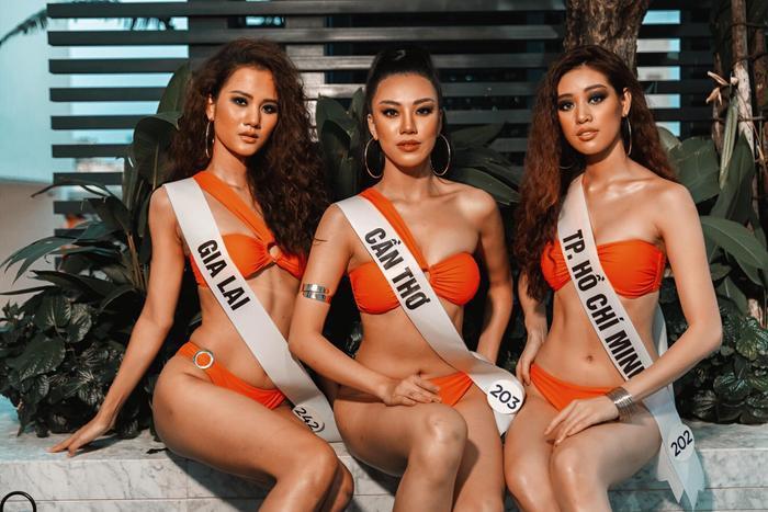 Hương Ly - Kim Duyên - Khánh Vân khoe vẻ đẹp sắc sảo và nóng bỏng trong trang phục bikini.